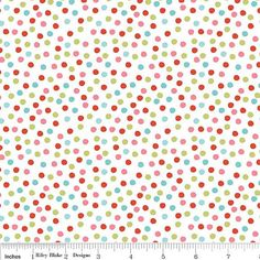 SALE One Yard Merry Dot Multicolor Dots by by AuntieEmsCrafts