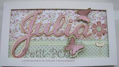 Plaquinha modelo jardim de borboletas. Petit POA - Eventos & Lembrancinhas Personalizadas