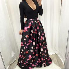 Rachel Floral Maxi Skirt