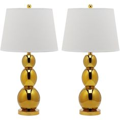 Jayne Three Sphere Glass 1-light Gold Table Lamps (Set of 2)   Overstock.com Shopping - Big Discounts on Safavieh Lamp Sets