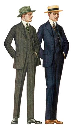 Antique Images Free Fashion Stock Image Vintage Father's Day Clip Art 1915 Fashion is part of Fashion stock images - Big Men Fashion, Fashion Moda, Men's Fashion, Fashion History, 1918 Fashion, Fashion Suits, Fashion Rings, Mode Vintage, Vintage Men