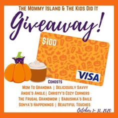 THE OTTAWA MOMMY CLUB IS PLEASED TO TAKE PART IN THE $100 VISA GIFT CARD GIVEAWAY! IT'S OPEN WORLDWIDE AND ENDS ON OCTOBER 31ST, 2020! Crave Burger, Visa Gift Card, Mom And Grandma, Gift Card Giveaway, You Are Invited, Christmas Shopping, Christmas Presents, Apple Cider, Hot Chocolate