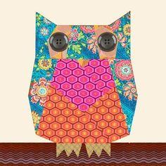Owl paper pieced block | Craftsy