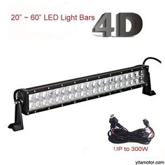 7 inch 36w dual row off road led light bar three types beam spot 20 inch to 60 inch 4d led light bars for jeep wrangler trucks mozeypictures Choice Image