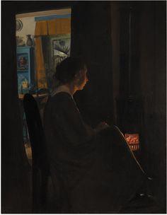 L.A. Ring  (Danish, 1854-08-15 - 1933-09-10)  Twilight. The Artist's Wife 1898 Oil on canvas, 86 x 65.5 cm  (c) National Gallery of DenmarkКаждый выбирает для себя. oddmuse