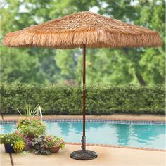 Merveilleux 9u0027 Thatched Tiki Umbrella From SportsmansGuide.com.