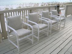 Pvc Patio Furniture To Enjoy The Green Space — Deco Home Decor Pvc Patio Furniture, Furniture Grade Pvc, Copper Furniture, Refurbished Furniture, Patio Chairs, Pallet Furniture, Furniture Making, Pvc Pipe Fittings, Interior Design Career
