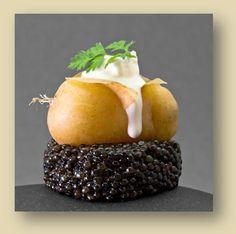 Photo about Caviar with potato and fresh cream. Image of caviar, fresh, gastronomy - 14878885 Caviar Recipes, Gourmet Recipes, Beluga Caviar, Luxury Food, Molecular Gastronomy, Unique Recipes, Food Presentation, Food Plating, Food Design