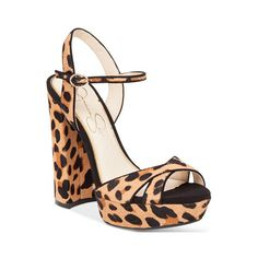 Jessica Simpson Naidine Strappy Block-Heel Sandals (355 BRL) ❤ liked on Polyvore featuring shoes, sandals, leopard, strappy heeled sandals, strap sandals, jessica simpson sandals, platform heel sandals and jessica simpson shoes