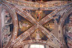 Agnolo Gaddi - Evangelisti della Chiesa - affresco - 1385 - volta Cappella Castellani - Basilica di Santa Croce a Firenze.