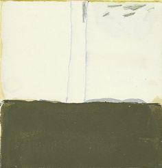 james bishop, tree I, oil on paper