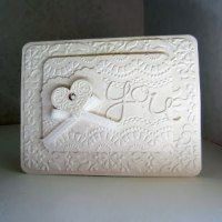 Romantic handmade cards, linked up at http://www.finecraftguild.com/