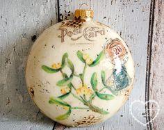 Christmas Ball Christmas Ornaments Retro by DecorativeGarden