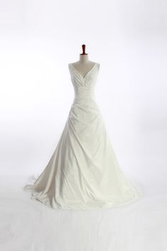 Gorgeous Sleeveless A-line Floor-length wedding dress