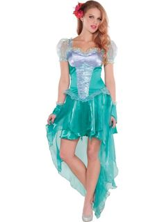 Adult Little Mermaid Ariel Costume - Party City So cute!