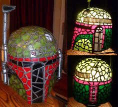 Funky Sci-Fi Lamps - The Boba Fett Stained Glass Lamp is a Star Wars Lover's Dream (GALLERY)