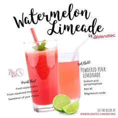 DRINK THIS NOT THAT! Make Watermelon Limeade in your Blendtec blender instead of using that powdered pink lemonade! Get the recipe: http://www.blendtec.com/recipes/watermelon-limeade