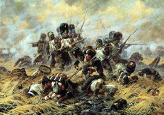 The Battle of Waterloo on June the battle that ended the dominance of the French Emperor Napoleon over Europe; Waterloo 1815, Battle Of Waterloo, Military Art, Military History, Military Diorama, Military Uniforms, Napoleon French, Napoleon Complex, French Empire