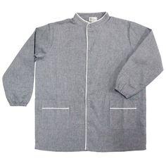 Blouse, Chef Jackets, Fashion, Gray, French Fabric, Clothes Racks, Moda, Fashion Styles, Blouses
