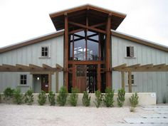 Barn Home Designs With Decorative Gravel
