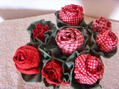 Vaso de rosas de tecido da Alexsandra Meus Amores: Minha semana #7