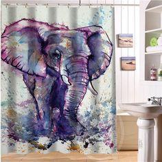Elegant and cute elephant Personalized Custom Shower Curtain Bath Curtain…