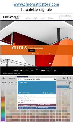 Visualisez votre teinte à l'écran et découvrez les couleurs complémentaires que vous pouvez associer à votre projet. www.chromaticstore.com