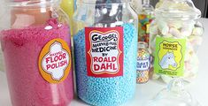 Everything you need for a fantabulous George's Marvellous Medicine Party inspired by Roald Dahl. No grandmas were shrunk in the planning of this party. Roald Dahl Activities, Teaching Activities, Fun Activities For Kids, Crafts For Kids, Fete Ideas, Ideas Party, Georges Marvellous Medicine Costume, Dahl Recipe, Roald Dahl Day