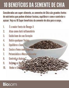 10 benefícios da semente de chia para a saúde infográfico