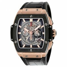 New Hublot Spirit of Big Bang Chronograph King Gold Watch Hublot Watches, Black Rubber Bands, Gold Hands, Watch Necklace, Automatic Watch, Casio Watch, Bigbang, Gold Watch