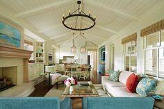 open layout cottage living room by Martha Dayton Design