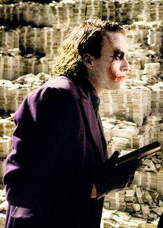 Heath Ledger as Joker Heath Legder, Joker Heath, Joker Dark Knight, The Dark Knight Trilogy, Dc Comics Film, Marvel Dc Comics, Heath Ledger Quotes, Batman Dark, Gotham Batman