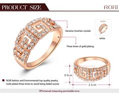 ROXI Christmas gift Classic luxury rings,top quality make with genuine SWR crystal, 100% hand made fashion jewelry,2010015355