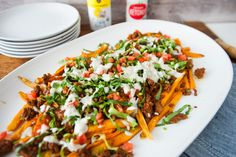 Loaded Sweet Potato Taco Fries | Tessemae's All Natural
