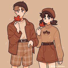 ✔ Couple Illustration Cute We Heart It Kawaii Drawings, Cute Drawings, Aesthetic Anime, Aesthetic Art, Arte Copic, Clothing Sketches, Arte Sketchbook, Cute Art Styles, Dibujos Cute