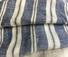 New to CustomLinensHandmade on Etsy: Ticking Stripe Duvet Cover with ticking stripe pillow cover Navy and Ivory ticking stripe bedding in Queen King size linen bedding (167.00 USD)