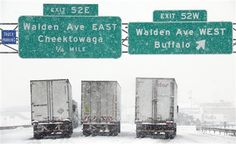 Buffalo New York Winter, know this exit well !!