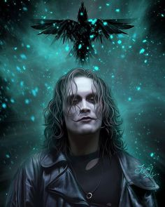"""Happy Birthday to Brandon Lee son of Bruce Lee. He would have been 51 today. #ItCantRainAllTheTime  """"The Crow"""" by TeomanMete on #Deviantart  #HappyBirthday #BrandonLee #TheCrow #EricDraven #BruceLee #Comics #Art by thegeekrealm"""