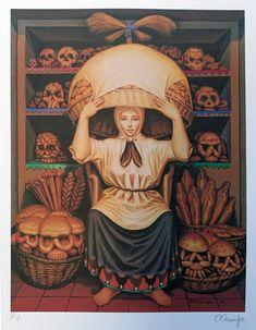 For Sale on - Pan de Muertos, Lithograph by Octavio Ocampo. Optical Illusion Paintings, Illusion Drawings, Art Optical, Dark Fantasy Art, Fantasy Kunst, Illusion Kunst, Illusion Art, Arte Horror, Horror Art