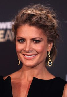 Natalie Bassingthwaighte Braided Updo - Natalie Bassingthwaighte looked stunning with her hair tied in a braided updo at the 2012 Logie Awards. Model Pictures, Celebrity Pictures, Braided Updo, Braided Hairstyles, All Girl Names, Natalie Bassingthwaighte, Styling Tools, Hair Tools, Looking Stunning