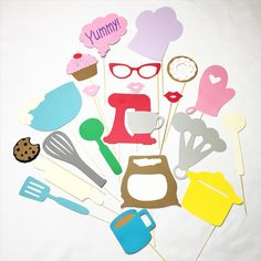 Baking photo booth props by LeStudioRose on Etsy