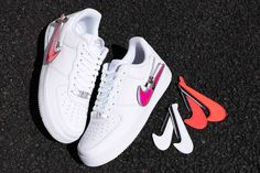 Buy New Design Nike Air Force 1 Zip-On Iridescent Swoosh Logos In White Air Force 1, Nike Air Force, Bikini Cover Up, Dress Robes, Kimono Cardigan, Converse, Vans, News Design, Sexy Women