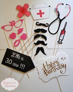 kit photobooth anniversaire et médical kit photobooth birthday and nurse  #photoboothnurse #photoboothbirthday