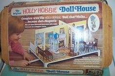 I have a picture of me playing with my Holly Hobbie Doll House on Christmas day, I love how you could make her move from room to room using the magnet underneath. Kind of a novelty though, I didn't play with this set as much as my Barbie and Wizard of Oz sets.