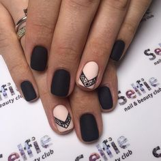 13 - Most popular nail designs in period - 1 We offer nail designs in different colors for These nail models will suit you very well. Accent Nails, Square Nail Designs, Nail Art Designs, Nails Design, Cute Nails, Pretty Nails, Hair And Nails, My Nails, Popular Nail Designs