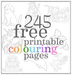 245 Free Printable Colouring Pages from Canadian Family --What a resource!!