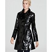 Via Spiga Nola Patent Trench Coat available at @sharan's