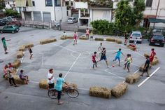 Street Three Sided Football for OLTRE IL MURO - International street art…