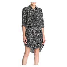 Floral Shirt Dress in Black from Joe Fresh