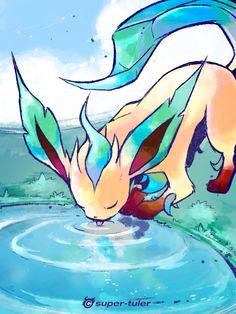 Thirsty Leafeon by *super-tuler on deviantART